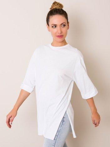 Biały t-shirt Becky RUE PARIS