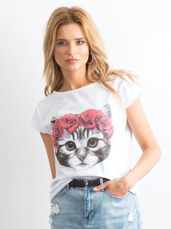 Biały t-shirt Catwalk