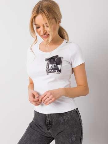 Biały t-shirt Fionne