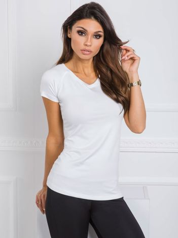 Biały t-shirt Harriet FOR FITNESS