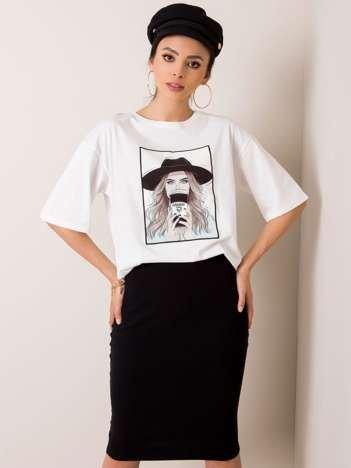 Biały t-shirt Madame RUE PARIS