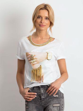 Biały t-shirt Mallory