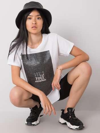 Biały t-shirt Moon