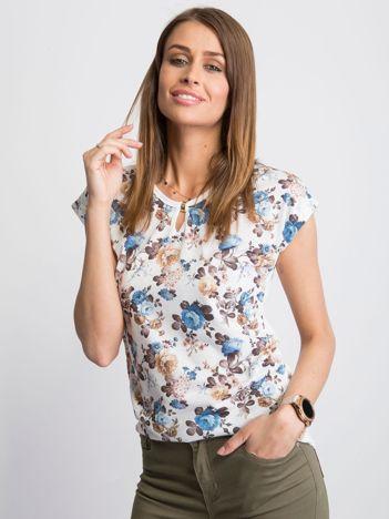 Biały t-shirt Provence