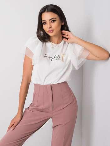 Biały t-shirt damski Abril