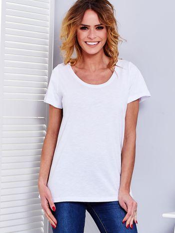Biały t-shirt damski basic