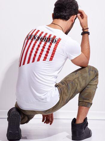 Biały t-shirt dla mężczyzny z nadrukiem