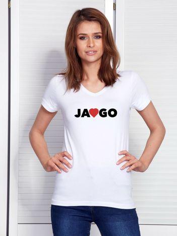 Biały t-shirt dla par z wyznaniem miłości