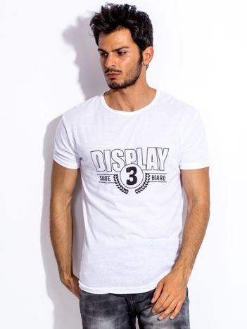 Biały t-shirt męski DISPLAY