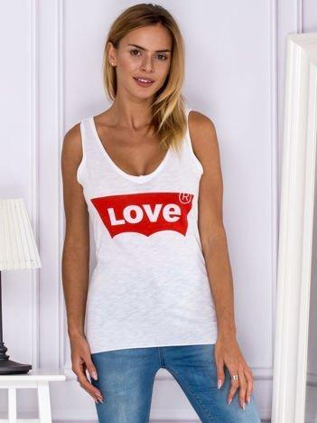 Biały top LOVE