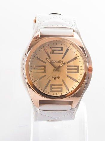 Biały zegarek męski na rękę