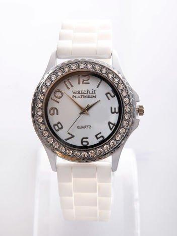Biały zegarek silikonowy damski