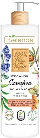 """Bielenda 100% Pure Vegan Wegański Szampon do włosów farbowanych  400g"""""""