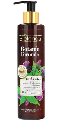 Bielenda Botanic Formula Łopian+Pokrzywa Odżywka do włosów przetłuszczających się 245ml