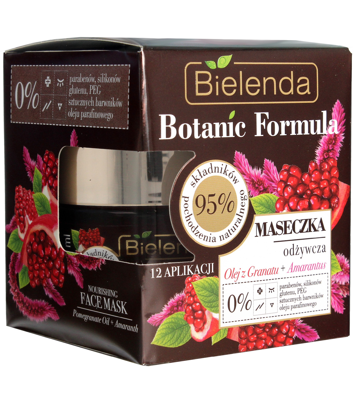 Bielenda Botanic Formula Olej z Granatu+Amarantus Maseczka odżywcza do twarzy 50ml