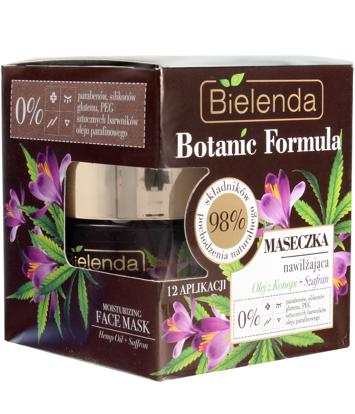 Bielenda Botanic Formula Olej z Konopi+Szafran Maseczka nawilżająca do twarzy 50ml