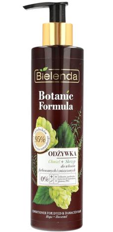 Bielenda Botanic Formula Skrzyp+Chmiel Odżywka do włosów farbowanych i zniszczonych 245ml