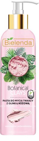 Bielenda Botanical Clays Różowa Glinka Pasta do mycia twarzy cera sucha i wrażliwa 190g