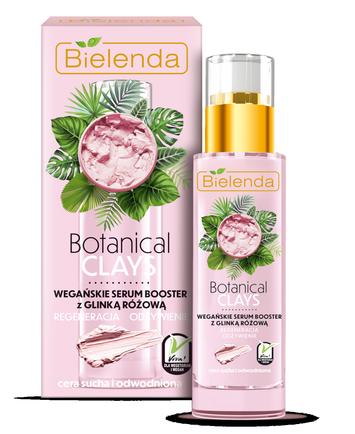 Bielenda Botanical Clays Różowa Glinka Wegańskie Serum Booster do twarzy cera sucha i wrażliwa 30 ml