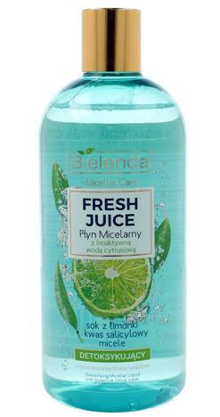 Bielenda Fresh Juice Płyn micelarny detoksykujący z wodą cytrusową Limonka 500 ml