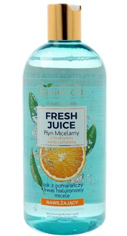 Bielenda Fresh Juice Płyn micelarny nawilżający z wodą cytrusową Pomarańcza 100 ml