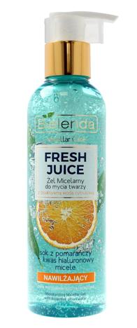Bielenda Fresh Juice Żel micelarny nawilżający z wodą cytrusową Pomarańcza 190 g