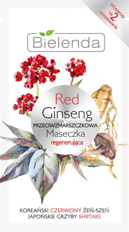 Bielenda Red Ginseng Przeciwzmarszczkowa Maseczka regenerująca 8 g