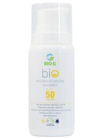 BioG Hipoalergiczne naturalne mleczko do opalania SPF 50+ 100 ml
