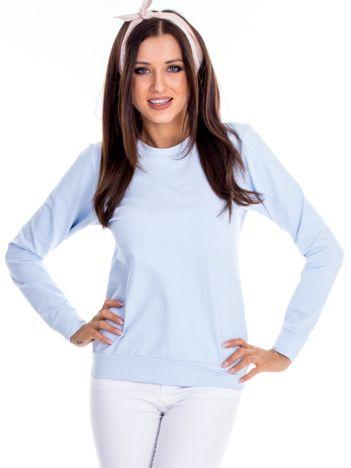 Błękitna bluza damska basic