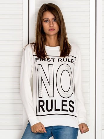 Bluza damska FIRST RULE NO RULES ecru