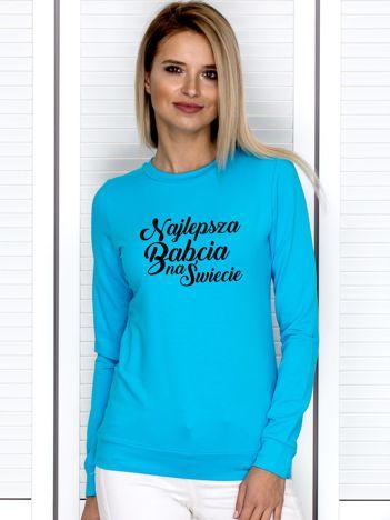 Bluza damska NAJLEPSZA BABCIA turkusowa