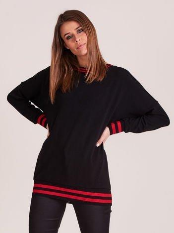 Bluza damska z dekoltem na plecach i ściągaczami czarna