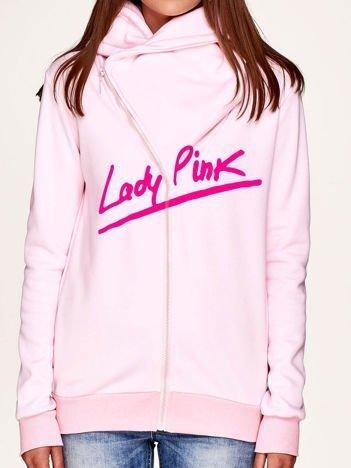 Bluza damska z napisem LADY PINK jasnoróżowa