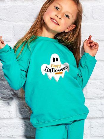 Bluza dziecięca z nadrukiem HAPPY HALLOWEEN morska