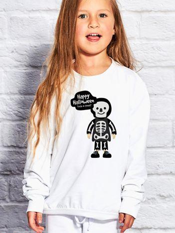 Bluza dziecięca z nadrukiem Halloween biała