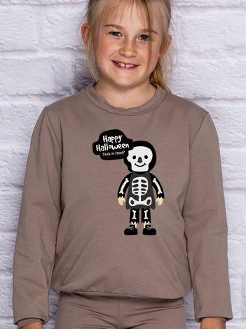 Bluza dziecięca z nadrukiem Halloween kawowa