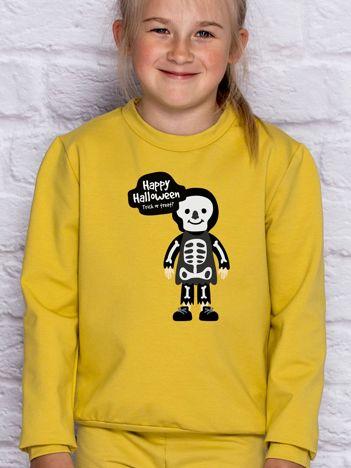 Bluza dziecięca z nadrukiem Halloween miodowa
