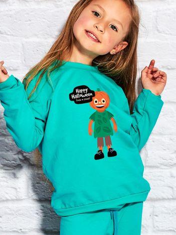 Bluza dziecięca z nadrukiem TRICK OR TREAT morska