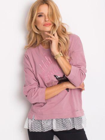 Bluza fioletowa z koronką