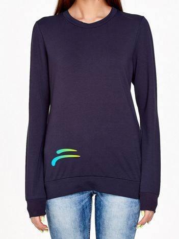 Bluza z kolorowym logo grafitowa