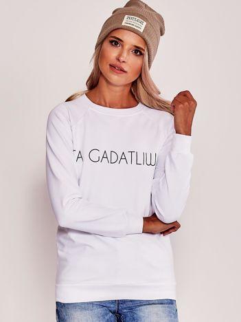 Bluza z napisem biała