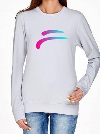 Bluza ze sportowym symbolem jasnoszara