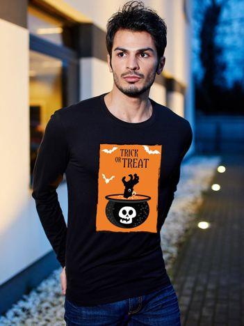 Bluzka czarna męska na Halloween TRICK OR TREAT