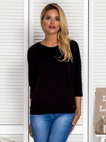 Bluzka damska z koronkową wstawką na plecach czarna