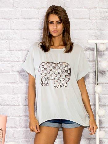 Bluzka damska ze słonikiem szara