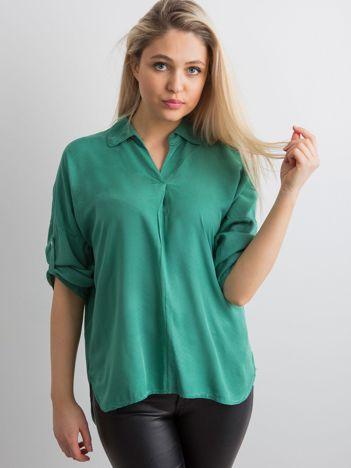 Bluzka koszulowa ciemnozielona