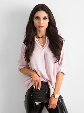 Bluzka koszulowa różowa