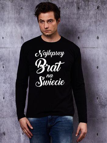 Bluzka męska z hasłem NAJLEPSZY BRAT NA ŚWIECIE czarna