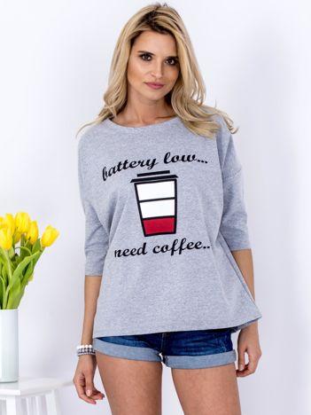 Bluzka szara z kawą