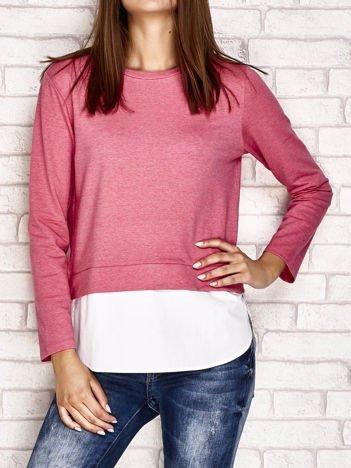 Bluzka z koszulą różowa